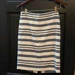 J. Crew striped pencil skirt 00